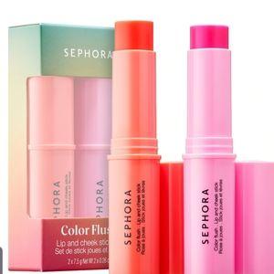 Sephora Color Flush Lip and Cheek Stick Set New